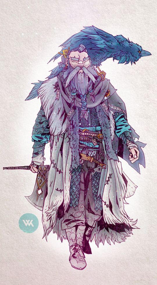 Here is the colour version of my friends dwarf character.