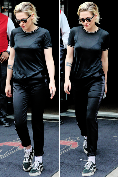 Tumblr Kristen on her way to Live with Kelly Show 7/14/16