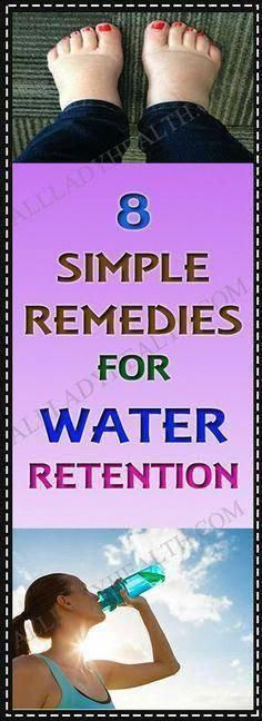 8 Simple Home Remedies For Water Retention #remedies #water #retention #health #drink #fitness #diet...