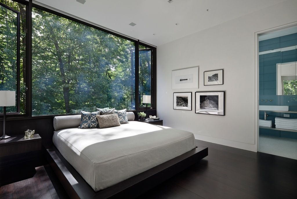 Good Incredible Window Wall As A Headboard In This Ultra Modern Bedroom. New  Canaan Residence By Specht Harpman Photo Gallery