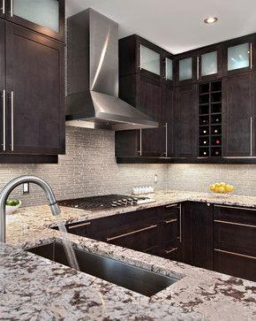 Pepper Kitchen Contemporary Kitchen Ottawa By Laurysen Kitchens Ltd Dark Kitchen Cabinets Dark Cabinets Transitional Kitchen