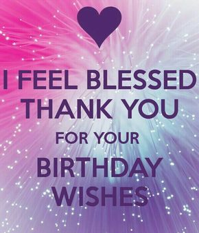 e168613408b57d0f27cbcf2373d222c4 thank you for birthday wishes thank you card❣ pinterest