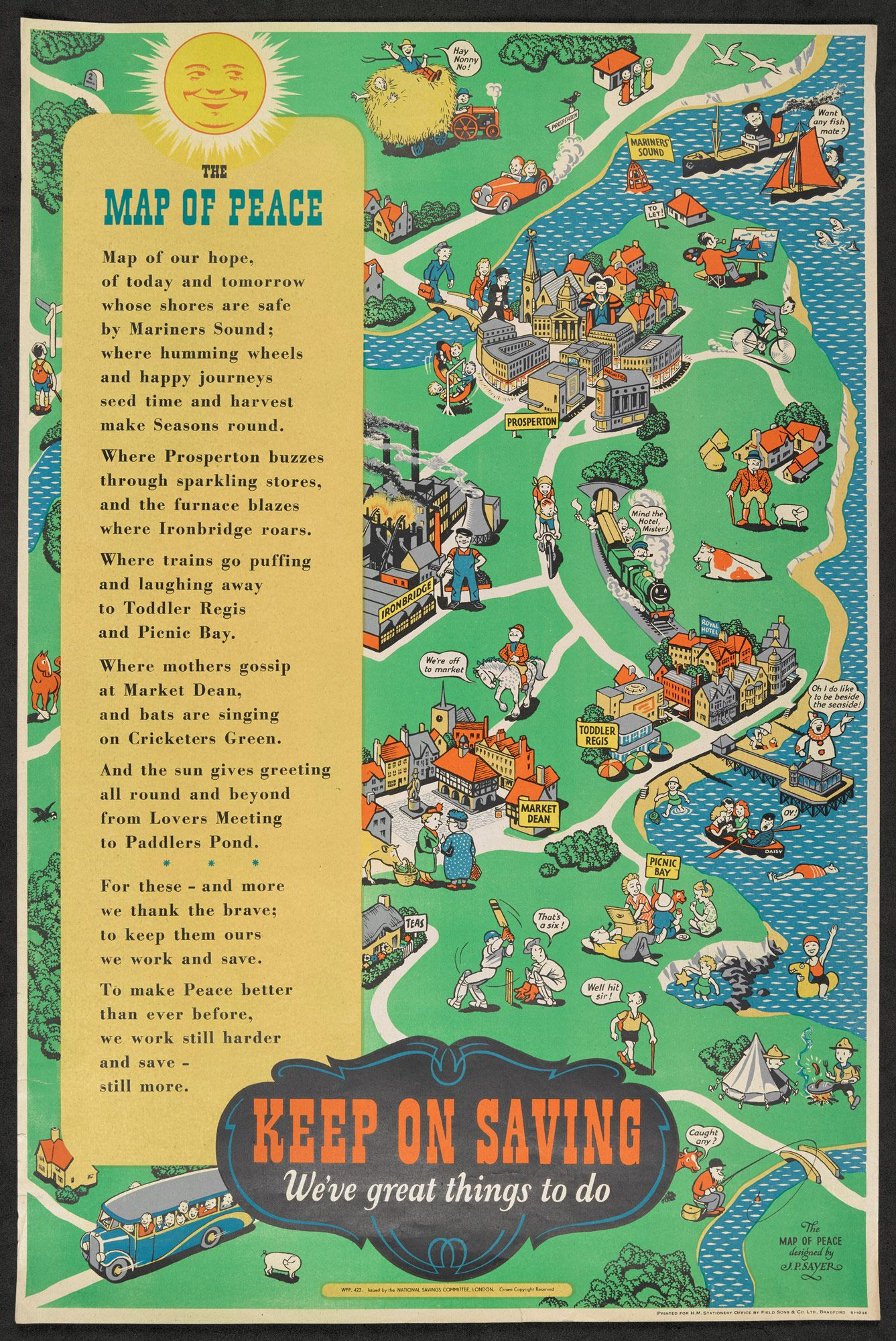 The Map Of Peace By J P Sayer 1945 Unreal Estate Pinterest