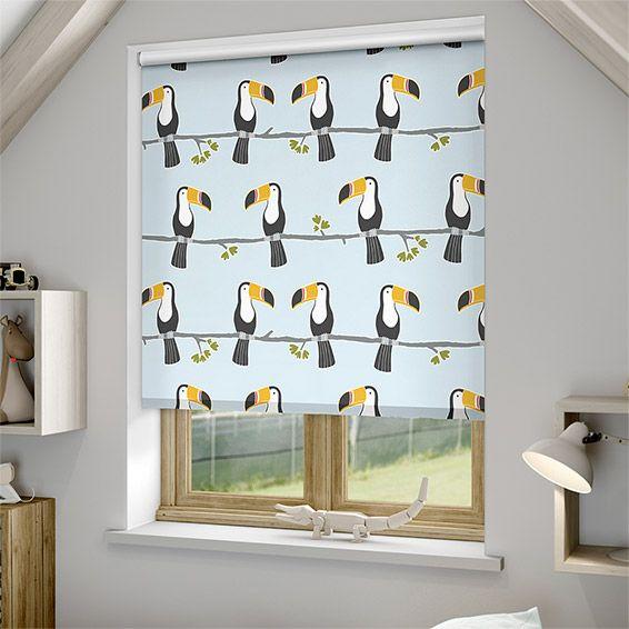 Terry Toucan Blackout Sky Roller Blind Kids Bedroom Accessories Decor Roller Blinds Grey childrens bedroom ideas terrys