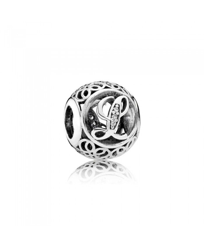 cb70e5efc Pandora Vintage L Charm 791856CZ | Alphabet | Pandora jewelry ...