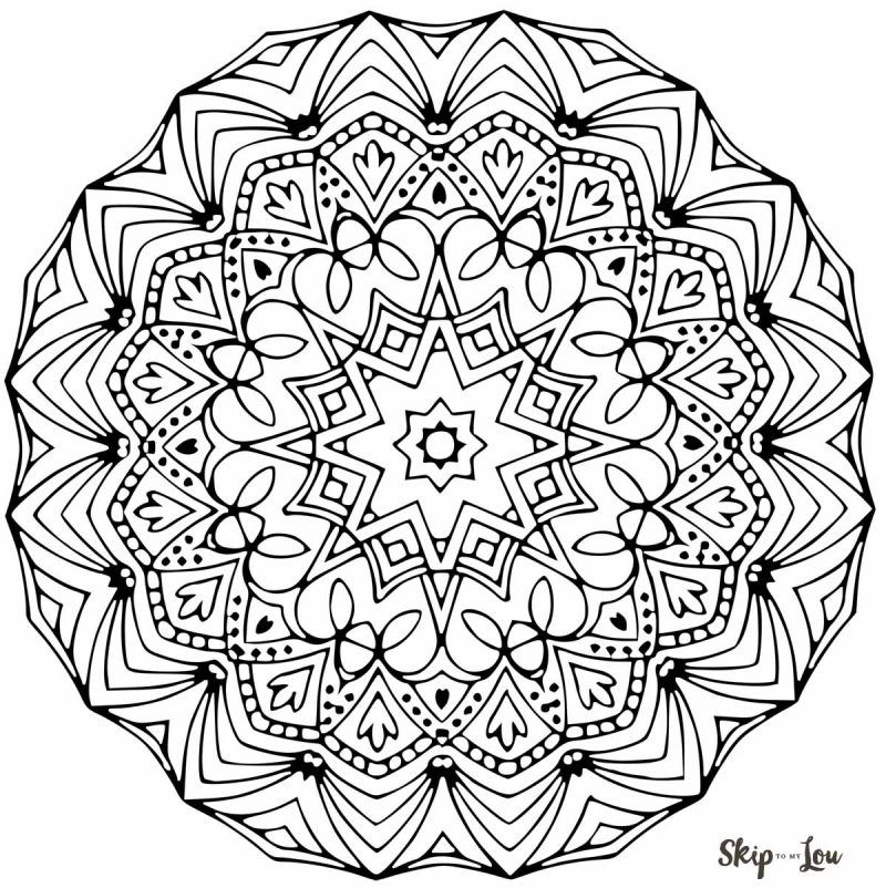 Free printable mandala coloring pages to color! is part of Mandala coloring pages, Mandala, Simple mandala, Mandala coloring, Mandala design, Coloring pages - Coloring isn't just for children  Coloring is a great way to relieve stress for adults  Like meditation , coloring allows us to switch off our brains from other thoughts  Studies have shown the simple activity of coloring can lower heart rate and restore calm