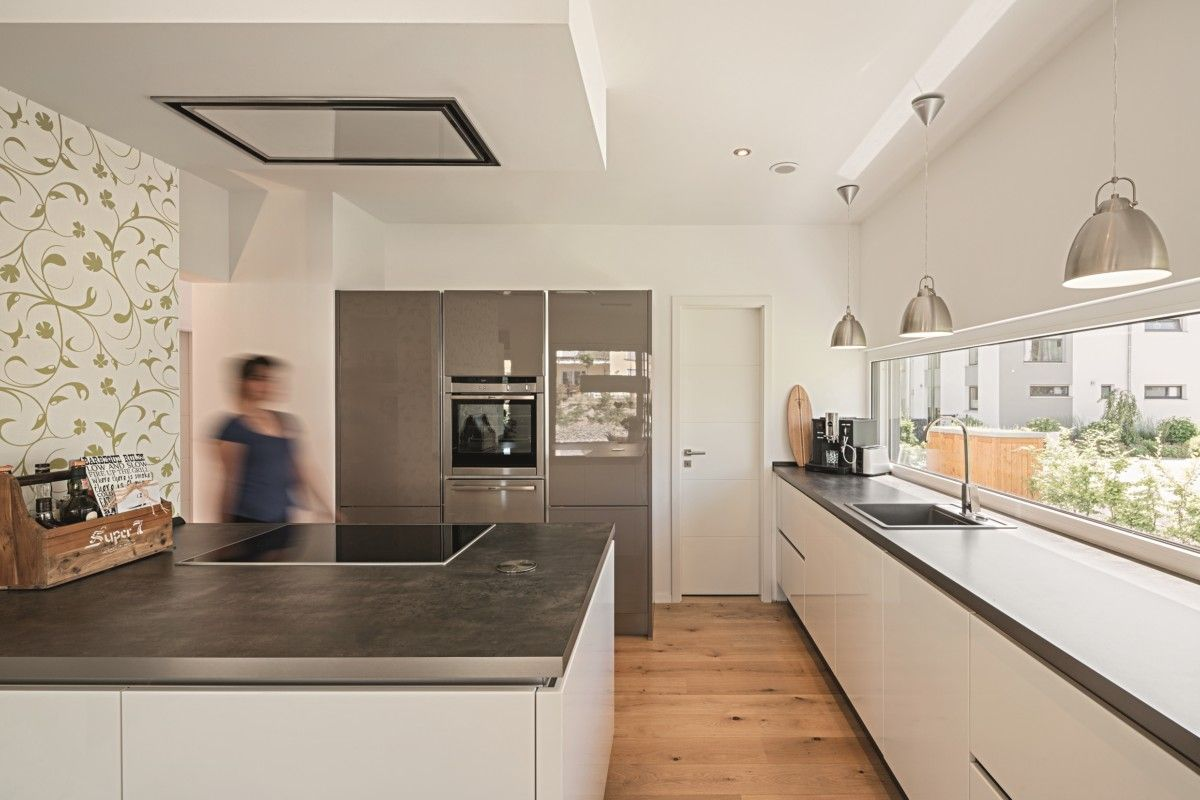 Einrichtungsideen für wohnkultur küche mit kochinsel  inneneinrichtung weberhaus lichtdurchfluteter