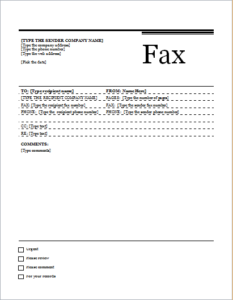 Fax Cover Sheet Urban Design Download At HttpWwwTemplateinn