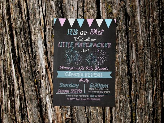 Printable Gender Reveal Invite Gender Reveal Party
