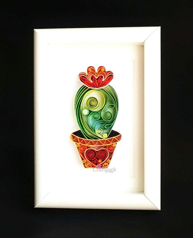 Cactus plant - Cactus Art - Framed Decor - Succulent Gifts ...