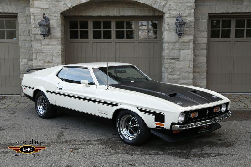 1971 White Ford Mustang Boss 351 For Sale Last Year Of The Boss Legendary Motorcar Ford Mustang Boss Ford Mustang 1971 Ford Mustang