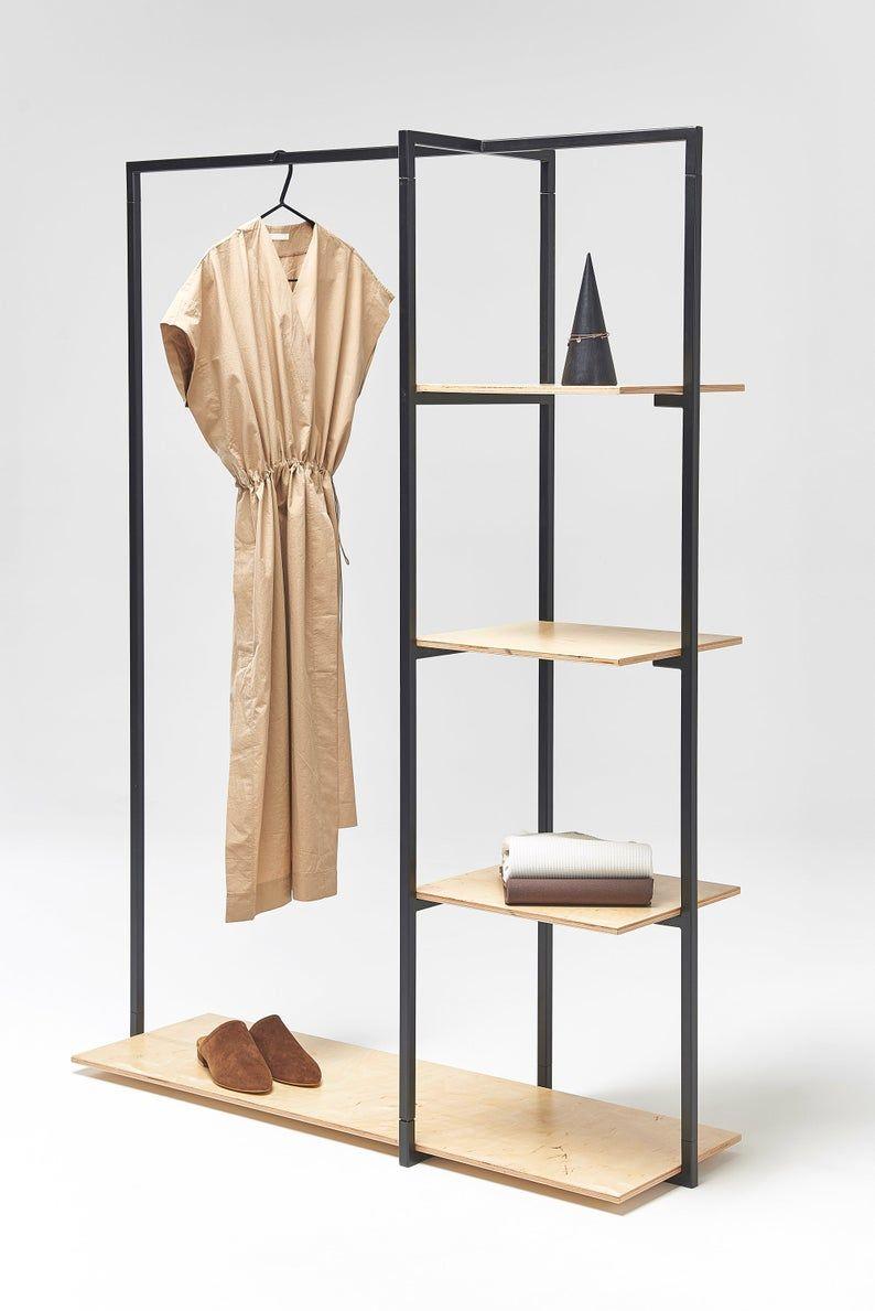 Portable Garment Rack With Shelves Sr 07 Craft Fair Etsy