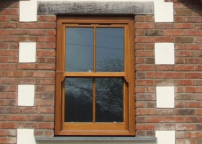 Wooden sash double glazing hillside view house ideas for Sash double glazing