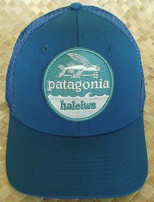 Patagonia-Flying-Fish-HALEIWA-Hat-Patch -Trucker-BLUE-Hawaii-Exclusive-RARE-NWT 62a26969450f