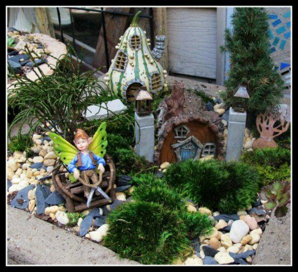mini garten im märchenhaus dekorative figuren Fairy gardens
