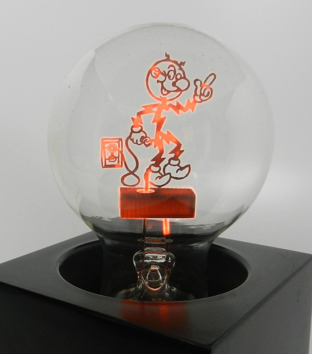 Reddy Kilowatt Aerolux Figural Filament Light Bulb And Lamp Working Condition Filament Bulb Lighting Filament Lighting Light Bulb