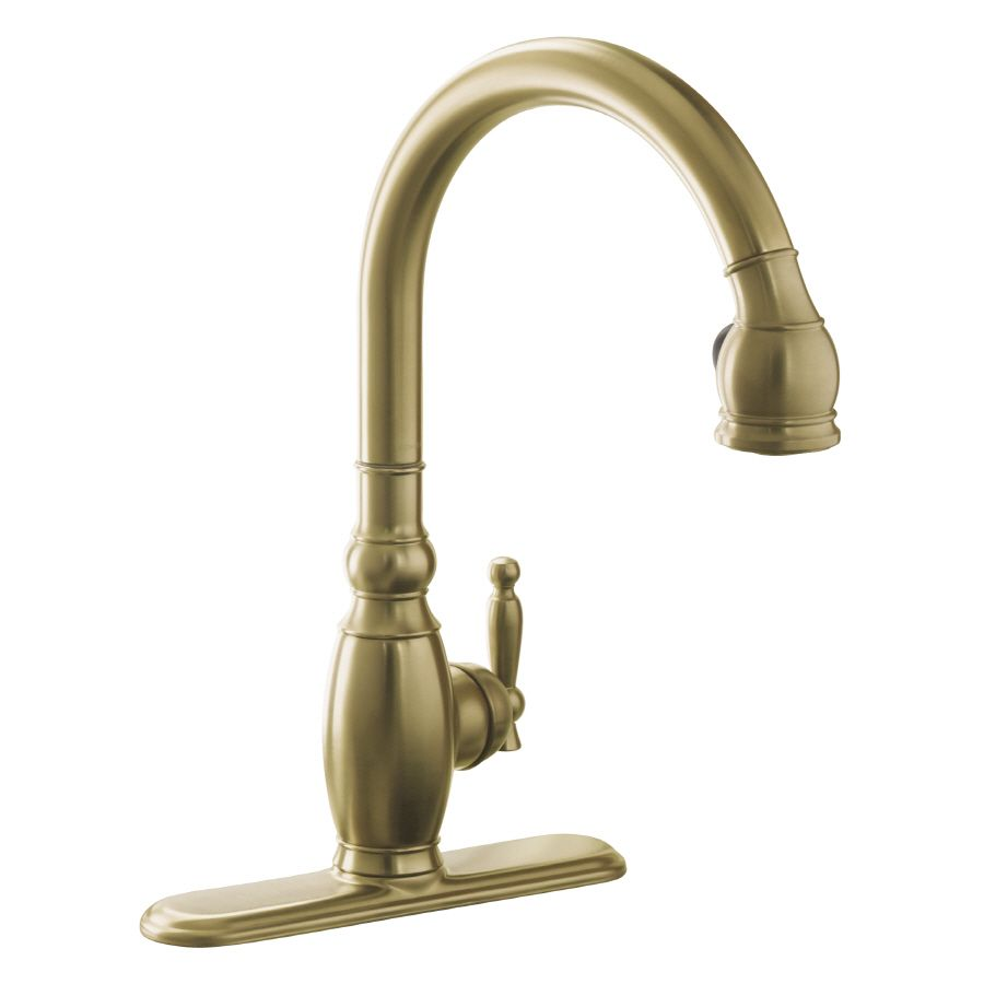 Kohler Vinnata Vibrant Brushed Bronze 1-Handle Pull-Down Kitchen ...