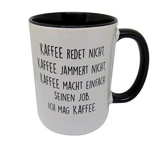 tasse mit spruch kaffee jammert nicht beidseitig bedr. Black Bedroom Furniture Sets. Home Design Ideas