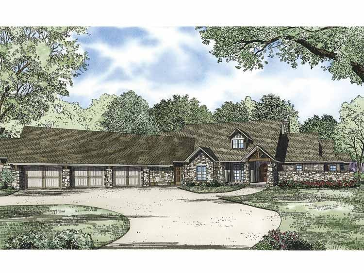 Eplans Ranch House Plan - Three Bedroom Ranch - 4080 Square Feet and 3 Bedrooms(s) from Eplans - House Plan Code HWEPL67587