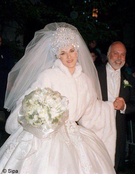 Crlone Famous Wedding Dresses Celebrity Wedding Dresses Celine Dion Wedding
