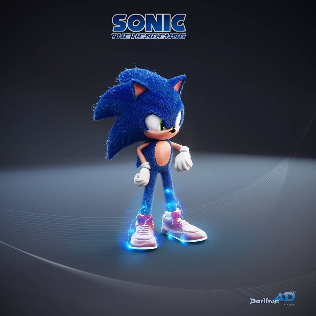 What Is Your Opinion In This Fanmade Redesign Of Movie Sonic Sonic Sonicthehedgehog Sega Sonic The Hedgehog Sonic Hedgehog