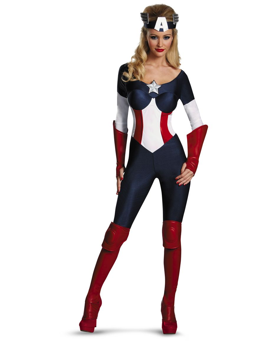 Captain America Dream Bodysuit Adult Womens Costume – Spirit ...