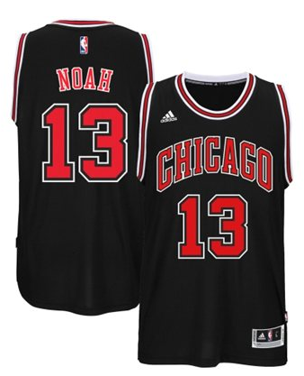 d02db1f7f Men s NBA Chicago Bulls  13 Joakim Noah Black 2014-2015 Swingman ...