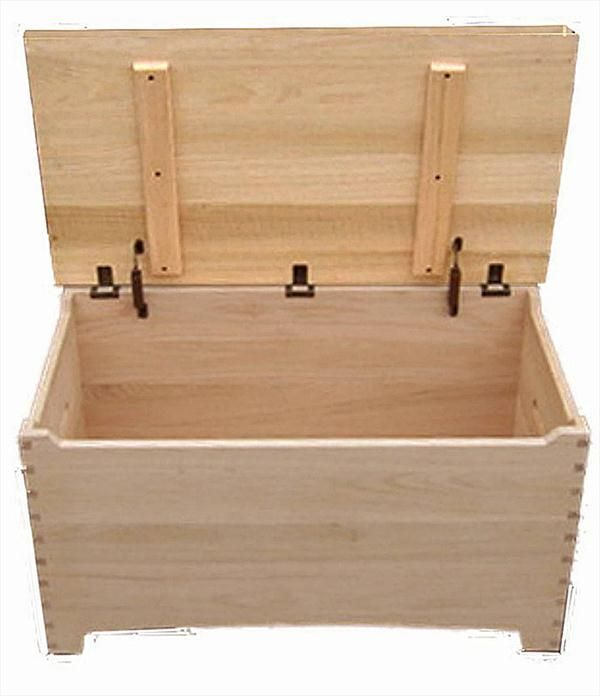 Amish Wooden Toy Box Chest Shaker Maple Dovetail Safety