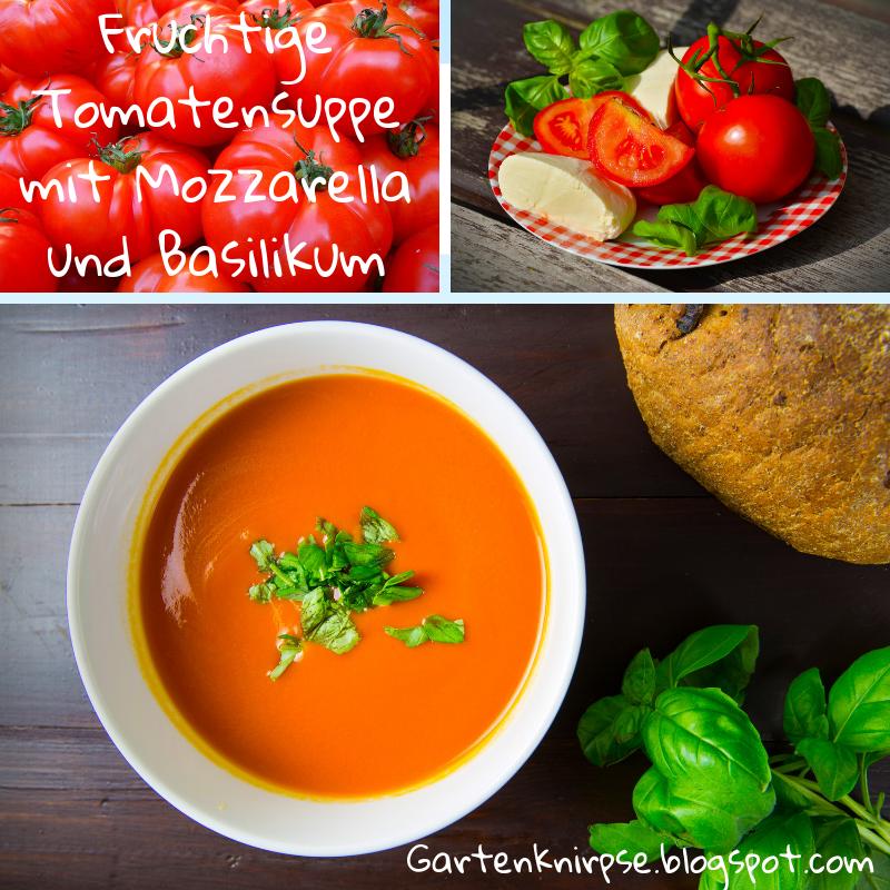 Wochenende, Sonnenschein🌞und Familienessen🥘. Was gibt es Besseres als eine leckere fruchtige Tomatensuppe🍅 – mit Mozzarella, frischem Basilikum, dazu geröstetes Bauernbrot 🥖und Kräuterbutter? Das komplette Rezept findet Ihr auf unserem Blog.
