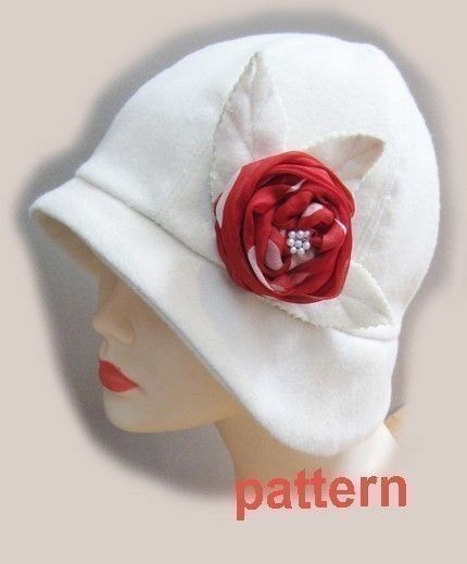 Cloche hat sewing pattern -medium - Roaring 20s flapper Cloche ...