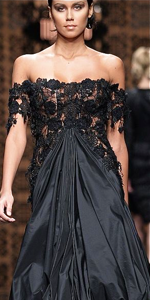 Great balance, love the gathering in the front, and the lace is just gorgeous
