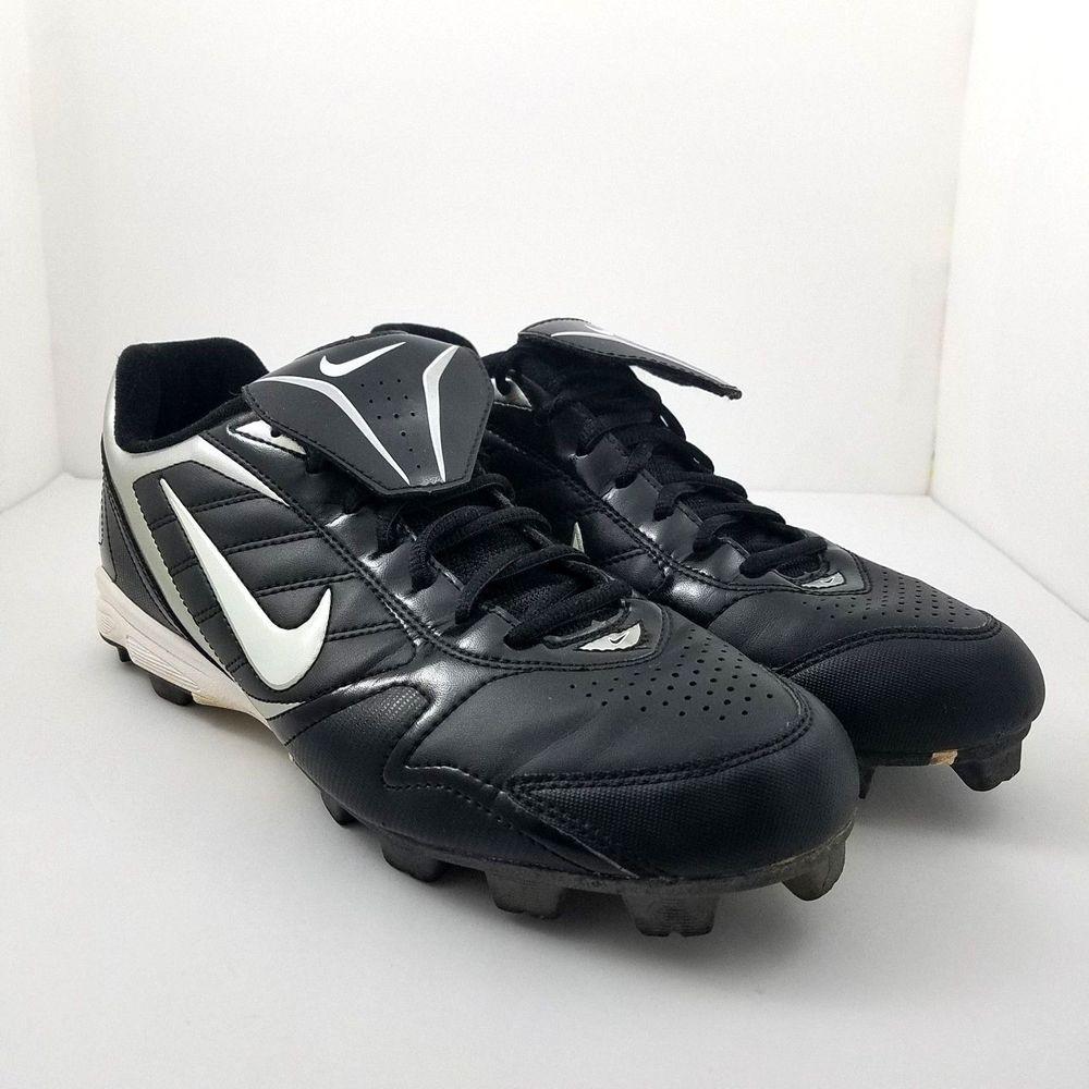 Nike mens baseball plastic cleats shoes size 10 black