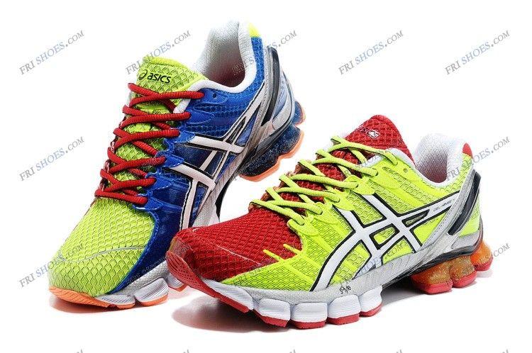 Asics Gel Kinsei 4 Red Green Mens Running Shoes Good Running Shoes