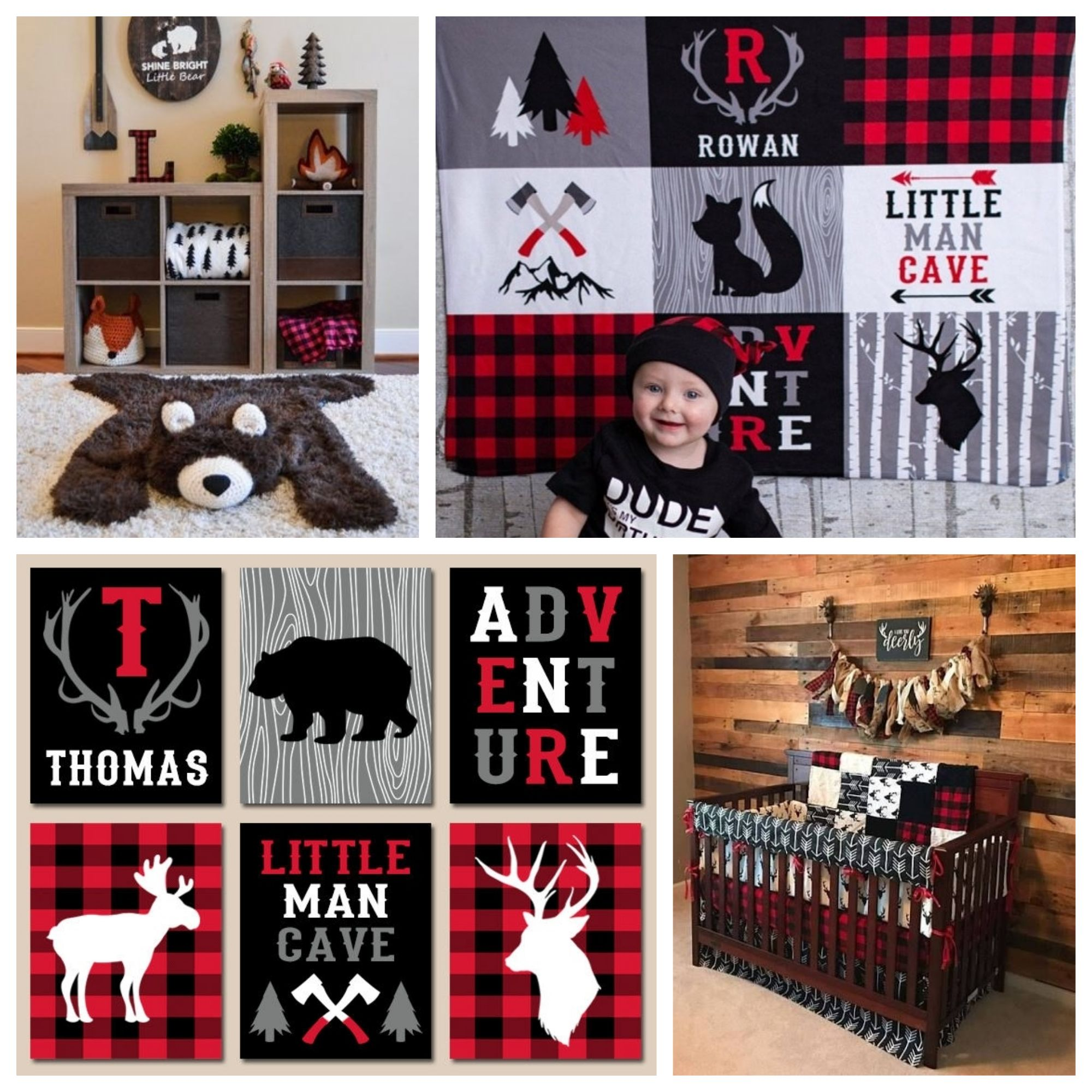 Lumberjack Nursery Decor Buffalo Plaid