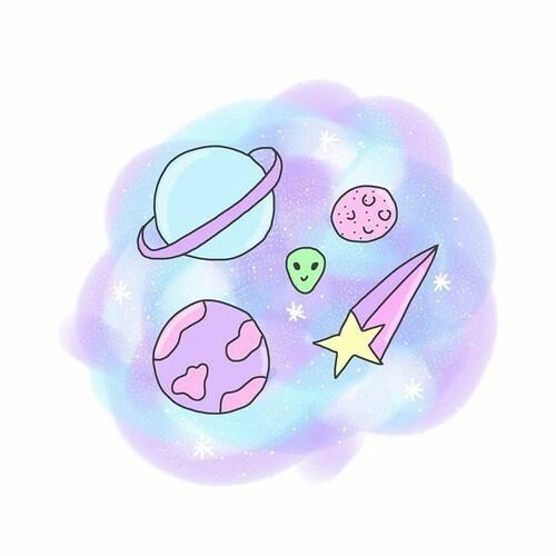 Imagen De Wallpaper Galaxy And Space Cute Drawings Kawaii Doodles Overlays Tumblr