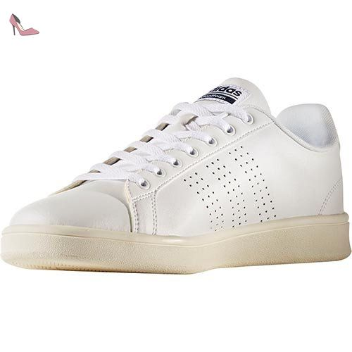 adidas Cloudfoam Advantage Clean, Baskets Basses Homme, Blanc (Footwear  White/Footwear White