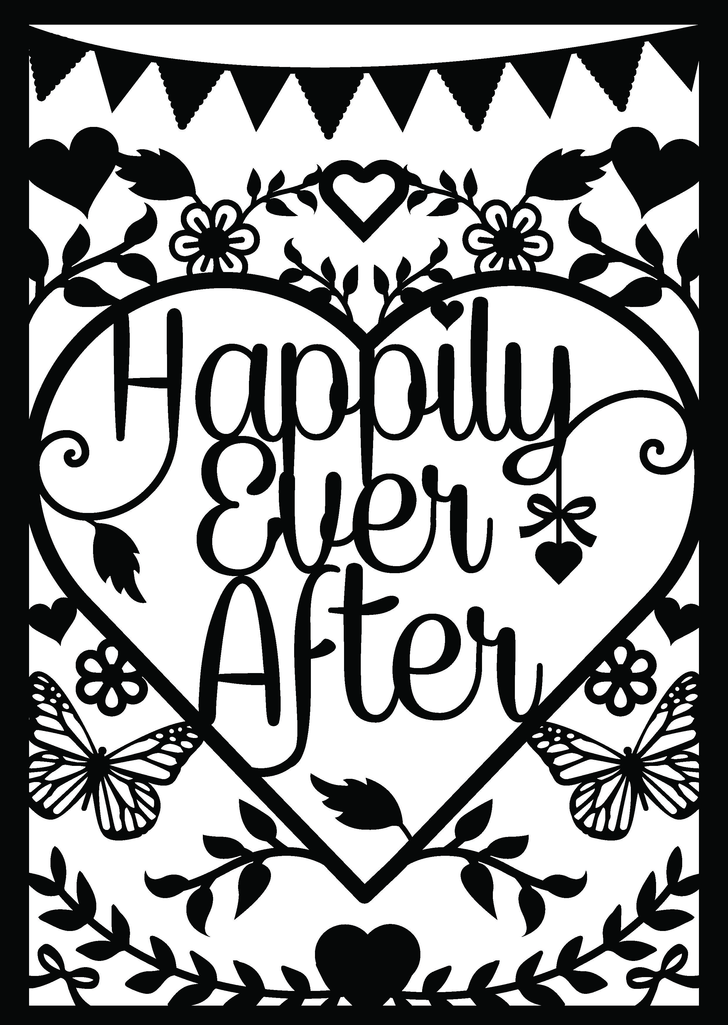 first edition wild at heart wedding papercut with free printable
