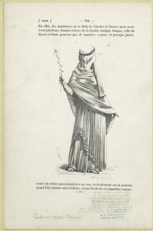 Image Id 810341 Costume Francais Tunique Longue Bible