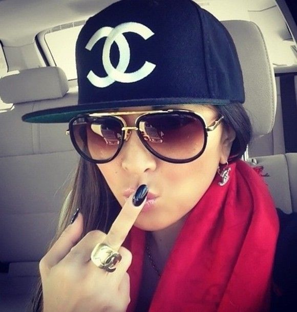 hat chanel swag girl