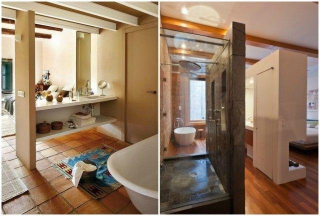 Ba o abierto al dormitorio ba o abierto el dormitorio y for Banos abiertos a la habitacion