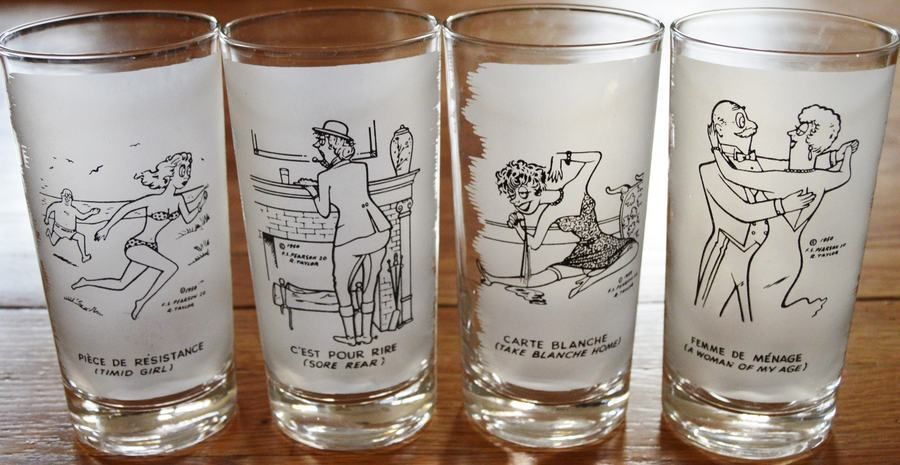 Drinks Are On The House CartoonComic Shot Glass