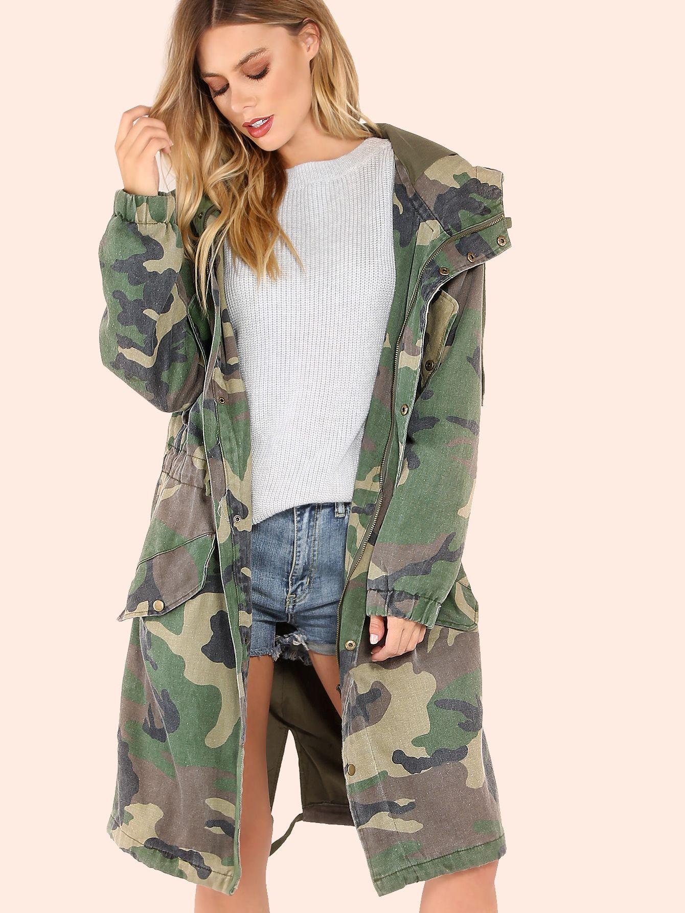 e0eef85280f2b Shop Oversized Camo Utility Jacket CAMOUFLAGE online. SheIn offers Oversized  Camo Utility Jacket CAMOUFLAGE   more to fit your fashionable needs.