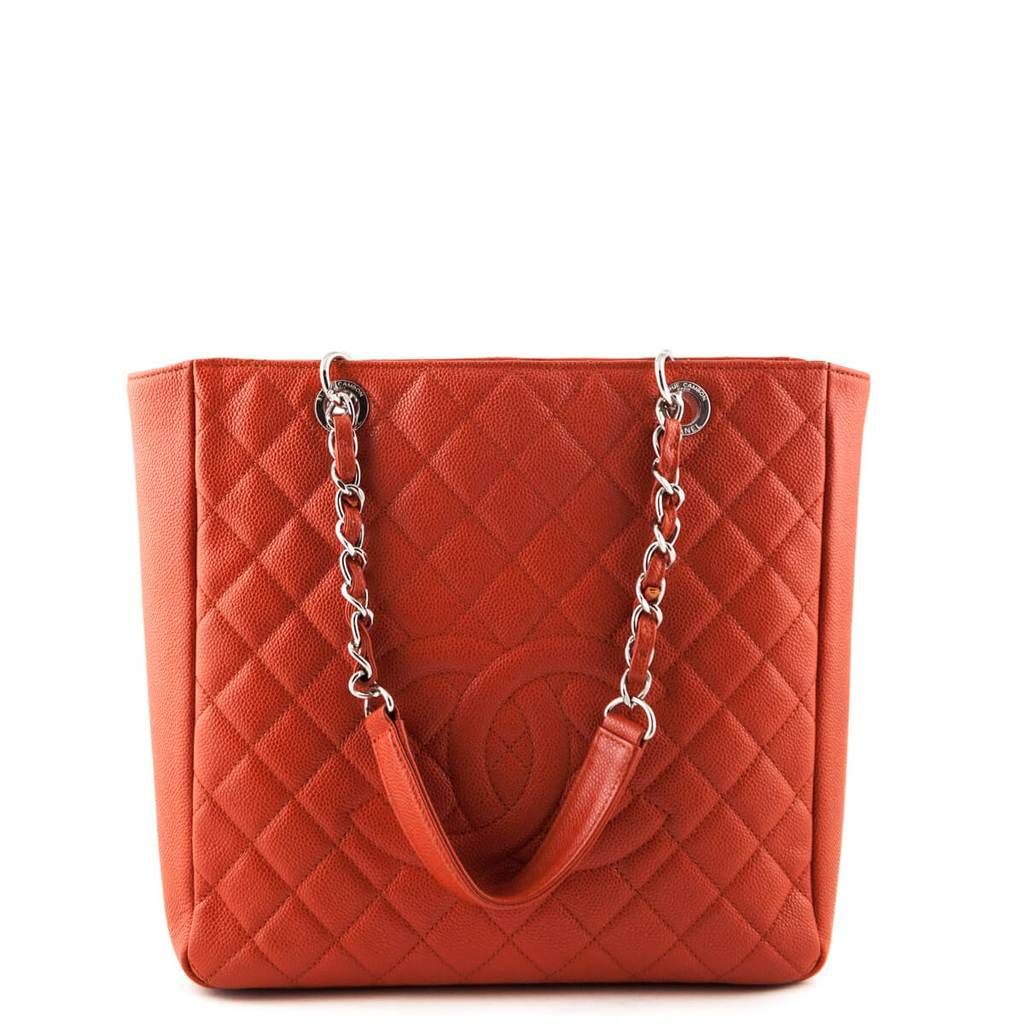 Chanel Orange Caviar Pst Xl Love That Bag Preowned Authentic