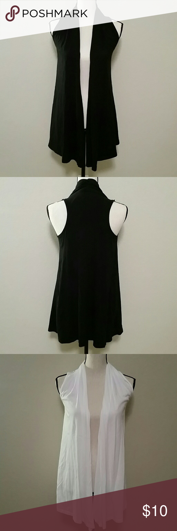Express Sleeveless Cardigan Bundle Two ? Express sleeveless cardigan bundle in black and white,  size XS, pre-owned but in excellent condition. Express Sweaters Cardigans