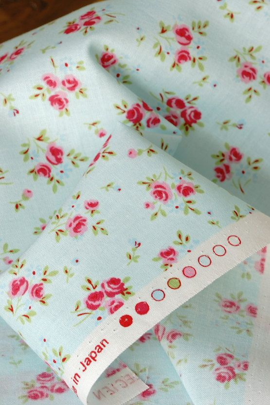 Japanese Fabric Cotton Shabby Chic Rose Half Yard By Cottonblue 850