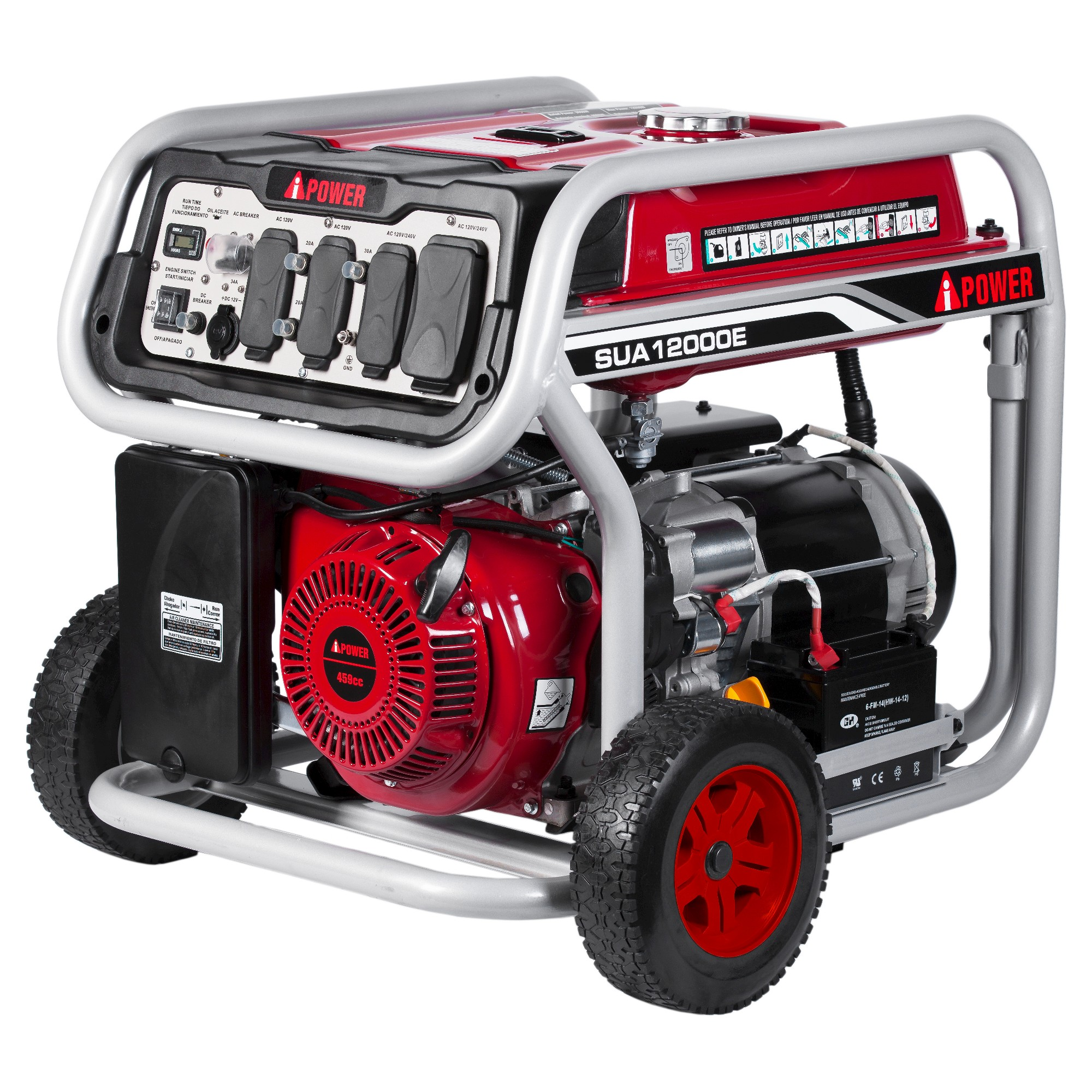 12000watt 39 54db Gasoline Powered Portable Generator Electric