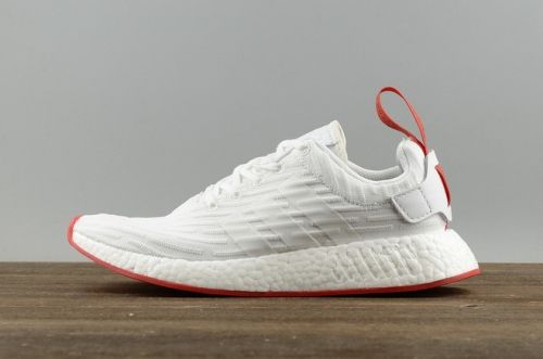 High Quality Men Adidas NMD R2 Primeknit White Core Red