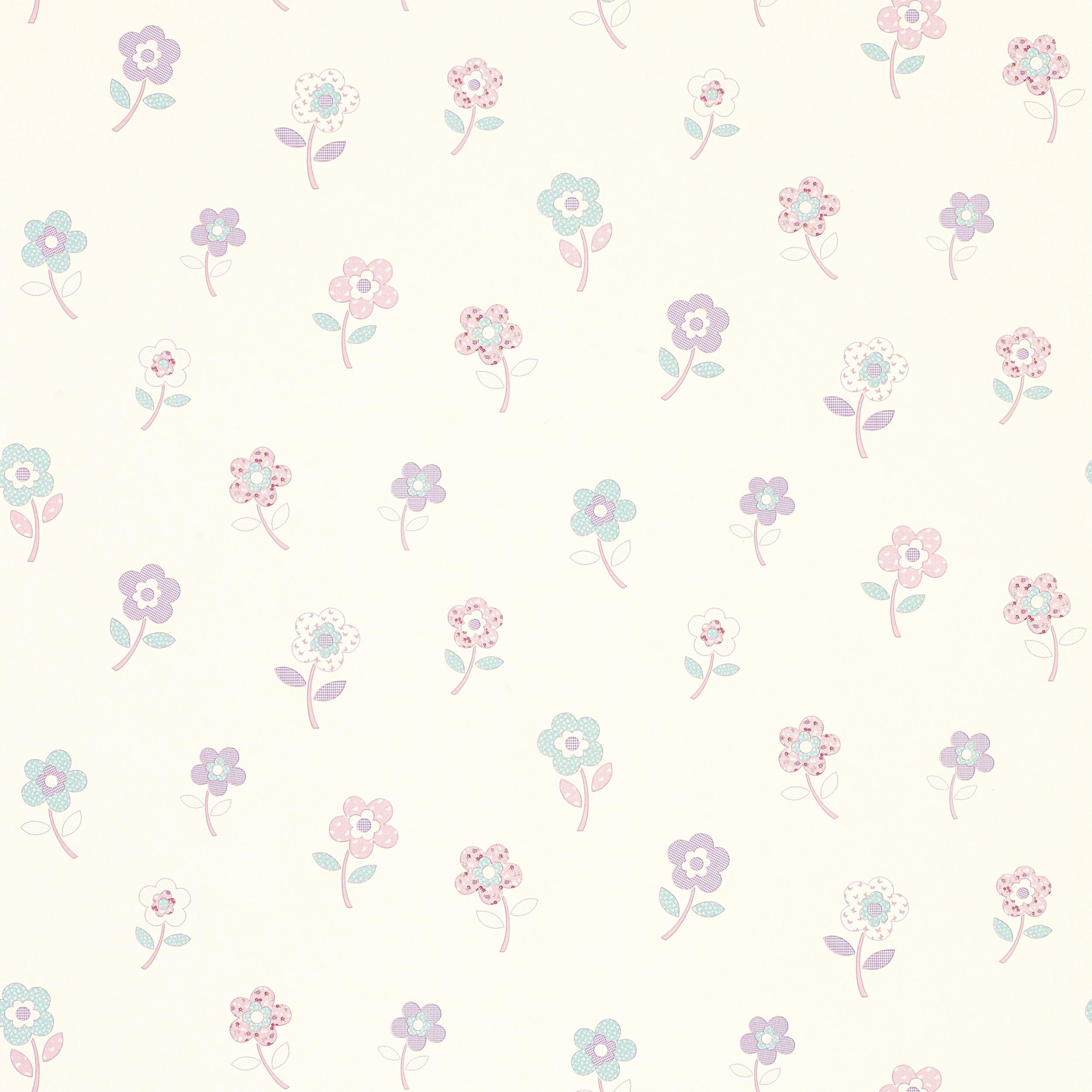 Clementine flower childrens wallpaper from laura ashley for Childrens wallpaper