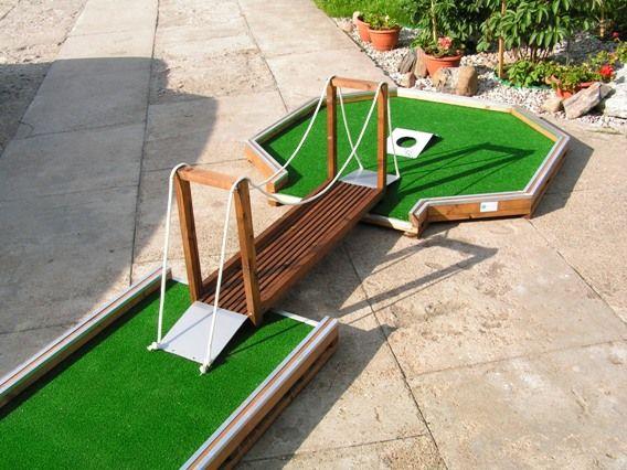 Wooden Bridge For Mini Golf And Crazy Golf Decoration Made By Minigolfas Com Golf Decor Golf Diy Golf Courses