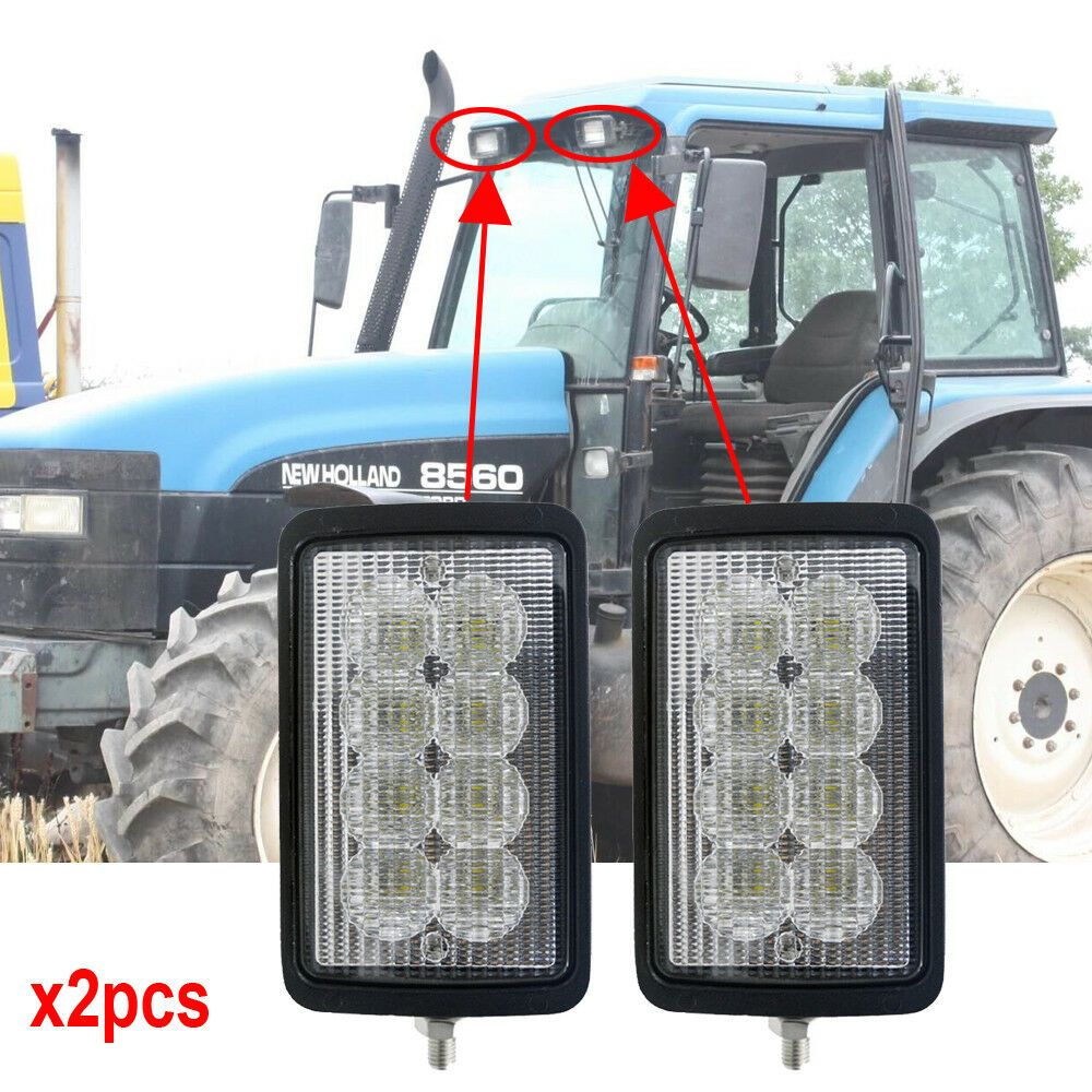 Rectangular 40w 6x4 Led Headlight W Side Bottom Mount For New Holland 8160 8260 Tractor Lights Led Headlights Tractors